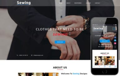 Sewing a Fashion Category Bootstrap Responsive Web Template