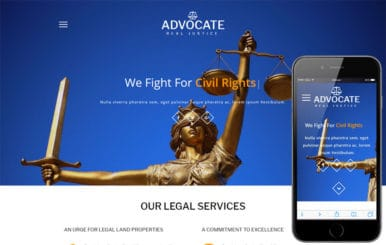 Advocate a Business Category Bootstrap Responsive Web Template