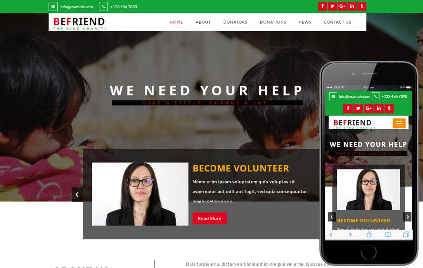 Befriend a Society & People Category Bootstrap Responsive Web Template