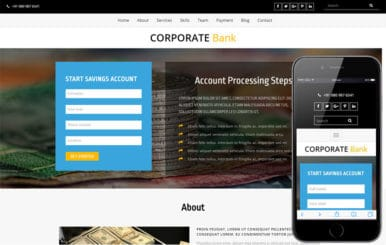Corporate Bank a Banking Category Bootstrap Responsive Web Template