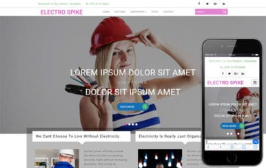 Electro Spike an Industrial Category Bootstrap Responsive Web Template