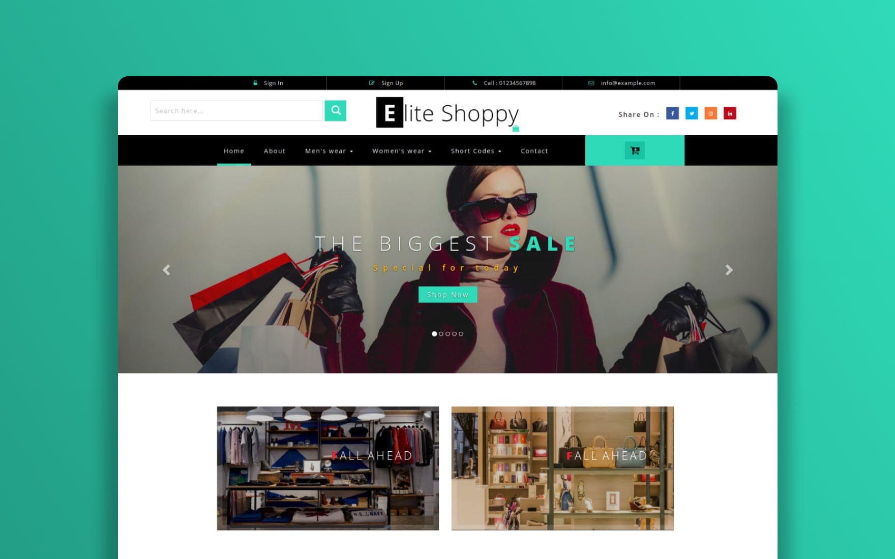 Elite Shoppy – E-commerce Category Bootstrap Responsive Website Template