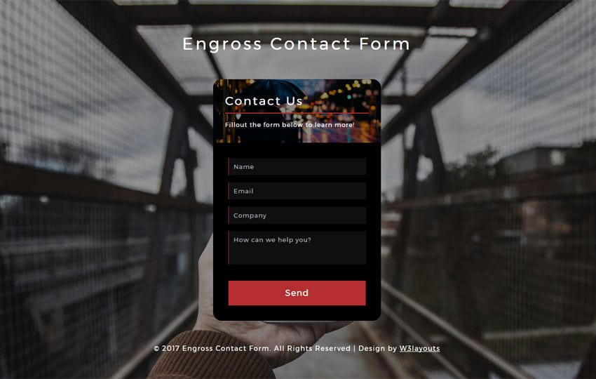 Engross Contact Form Responsive Widget Template