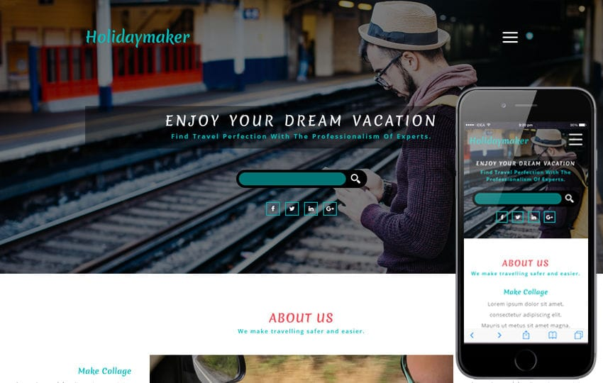 Holidaymaker a Travel Category Bootstrap Responsive Web Template