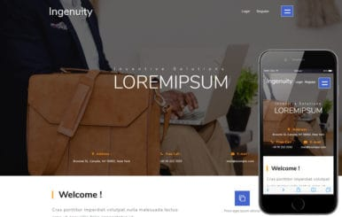 Ingenuity a Corporate Category Bootstrap Responsive Web Template