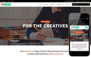 Mastering an Education Category Bootstrap Responsive Web Template