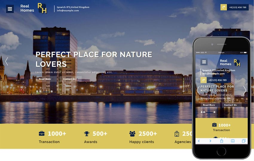 Real homes a Real Estates Category Bootstrap Responsive Web Template