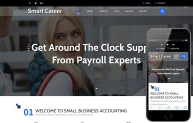 Smart Career a Banking Category Bootstrap Responsive Web Template