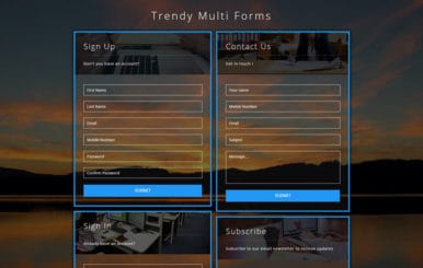Trendy Multi Forms a Responsive Widget Template