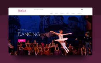 ballet website template
