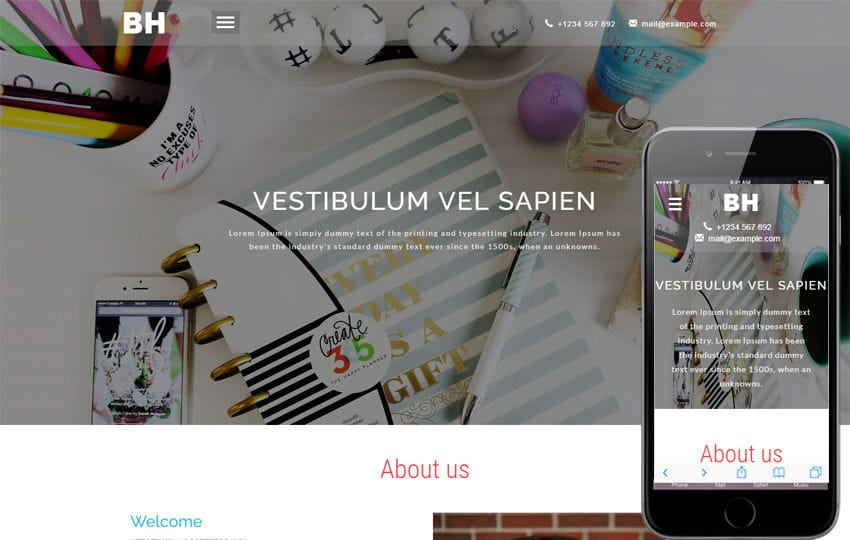 Business Hub a Corporate Category Bootstrap Responsive Web Template