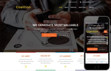Coalition a Corporate Business Flat Bootstrap Responsive Web Template