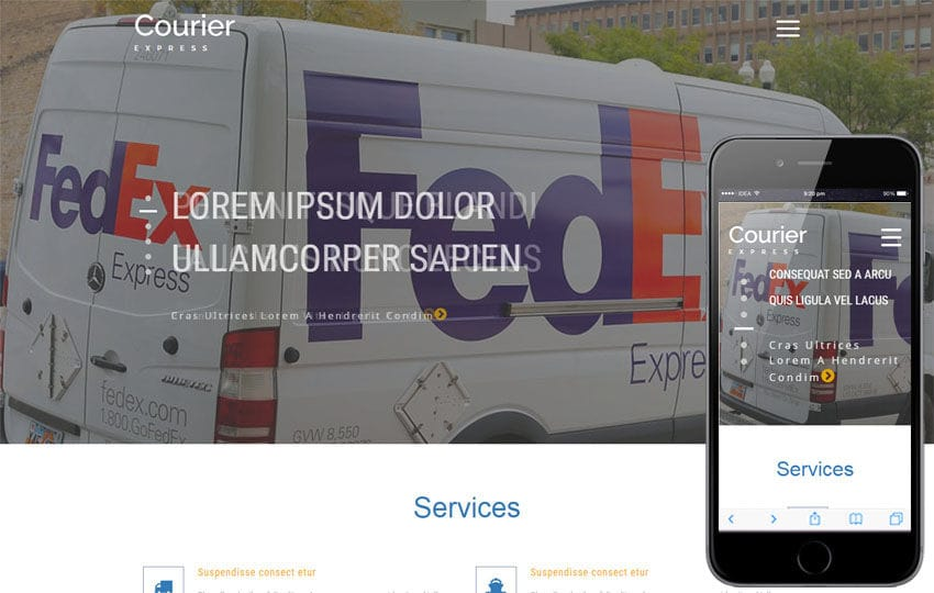 Courier Express a Transport Category Bootstrap Responsive Website Template