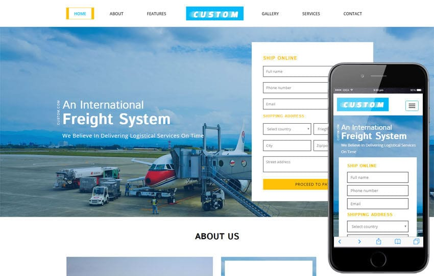 Custom a Transportation Category Bootstrap Responsive Web Template