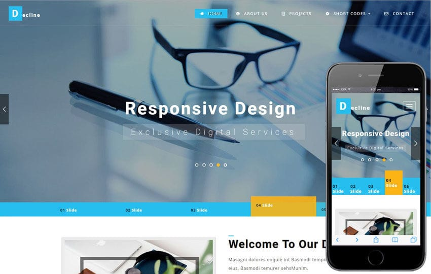 Decline a Corporate Category Bootstrap Responsive Web Template