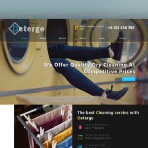 deterge a laundry website template