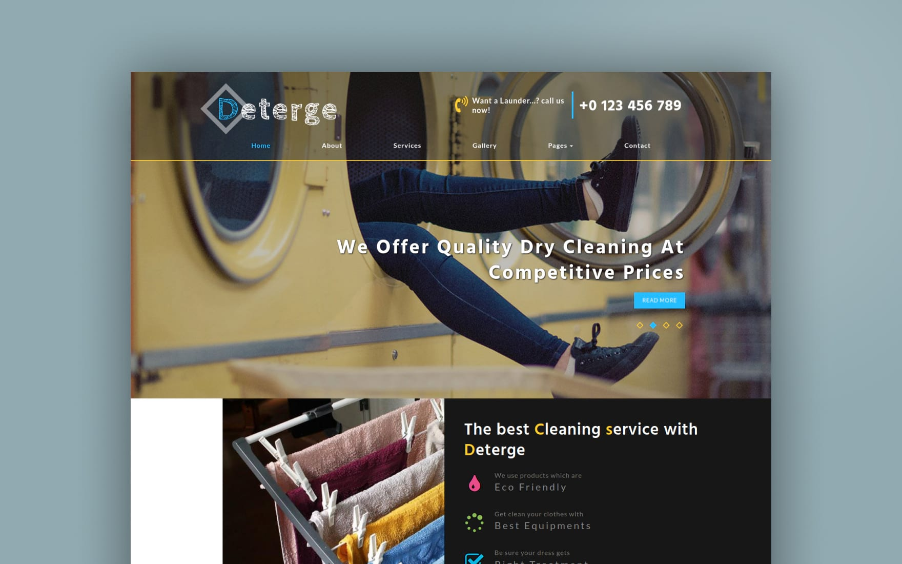 Deterge Laundry a Flat Bootstrap Responsive Web Template