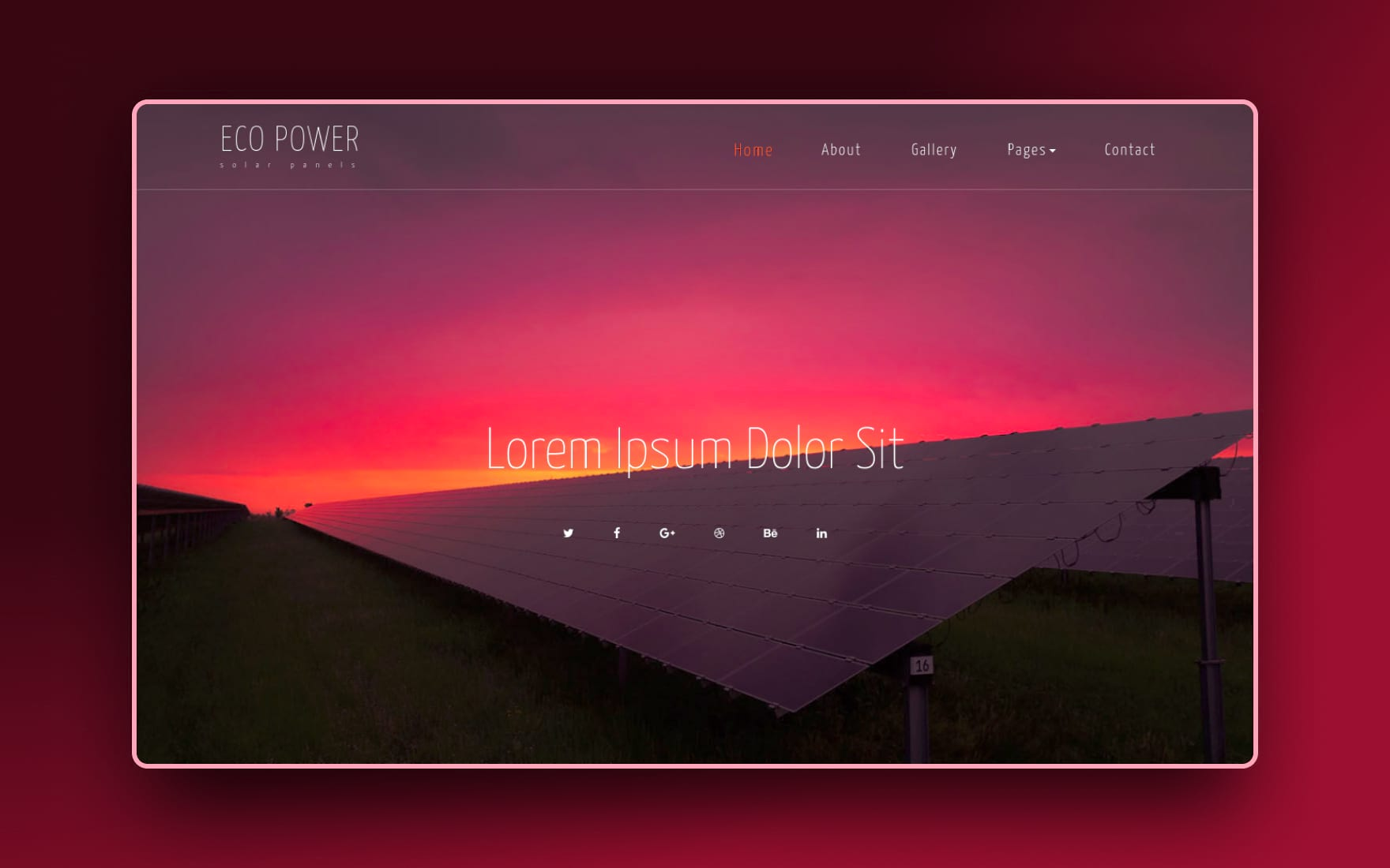 eco power website template