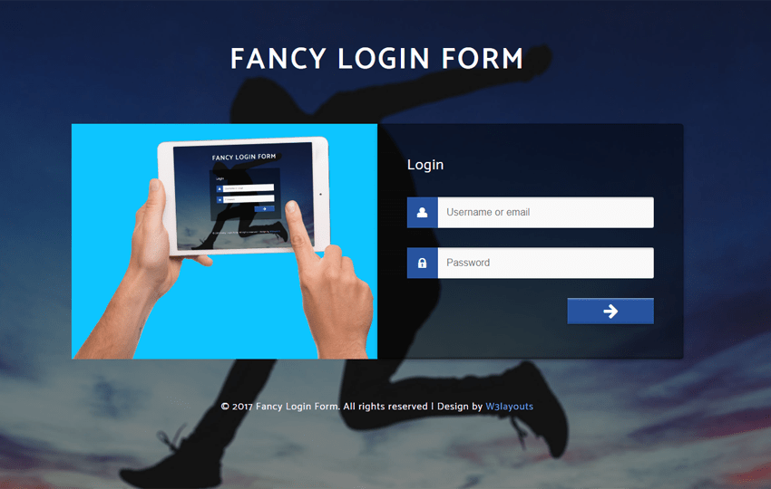 Fancy Login Form a Flat Responsive Widget Template