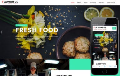 Flavorful a Restaurants Category Bootstrap Responsive Web Template