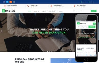 Funding a Banking Category Bootstrap Responsive Web Template