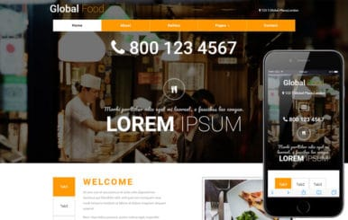 Global Food a Restaurants Category Bootstrap Responsive Web Template