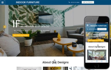 Indoor Furniture an Interior Category Bootstrap Responsive Web Template