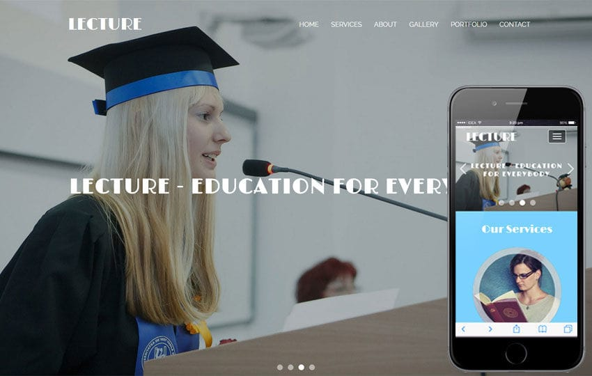 Lecture an Education Category Flat Bootstrap Responsive Web Template