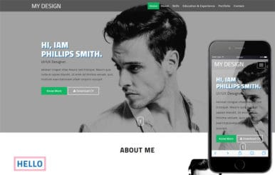 My Design a Personal Category Bootstrap Responsive Web Template