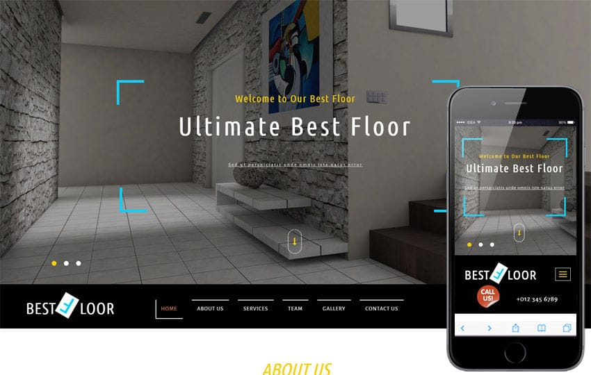 Best Floor an Interior Category Bootstrap Responsive Web Template