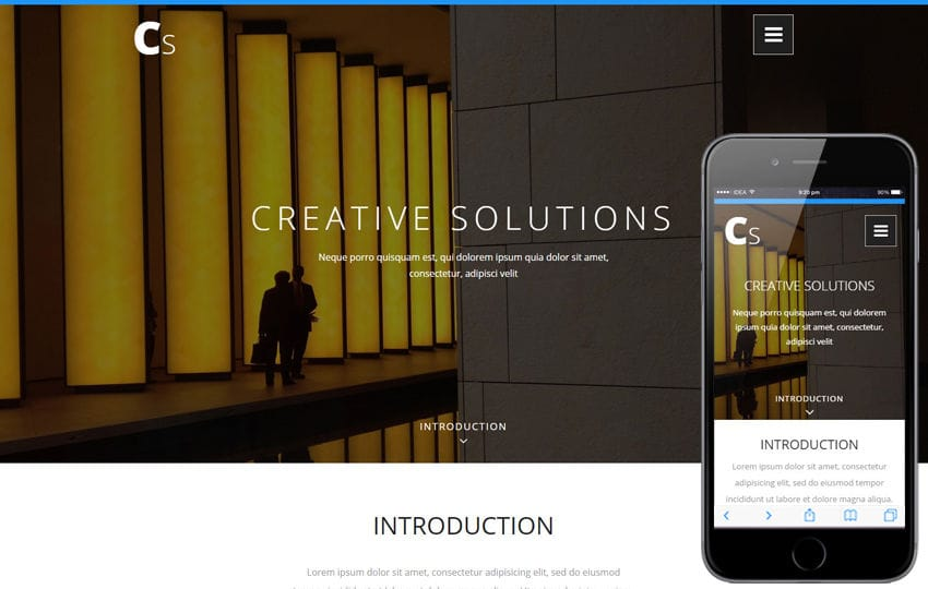 Creative Solutions a Corporate Category Bootstrap Responsive Web Template
