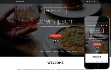 Delicious Food a Hotels Category Bootstrap Responsive Web Template