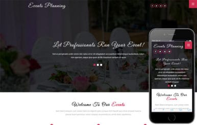 Events Planning a Wedding Category Bootstrap Responsive Web Template