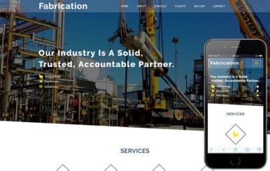 Fabrication an Industrial Category Bootstrap Responsive Web Template