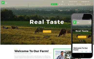 Farm an Agriculture Category Bootstrap Responsive Web Template