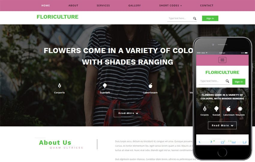 Floriculture an Agriculture Category Flat Bootstrap Responsive Web Template