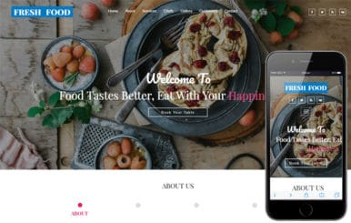 Fresh Food a Restaurants Category Bootstrap Responsive Web Template