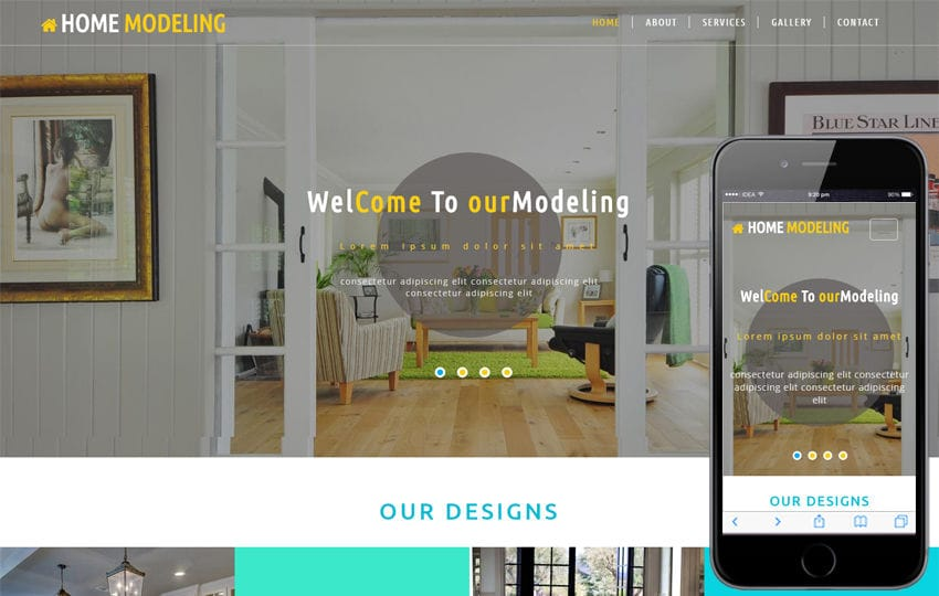 Home Modeling an Interior Category Bootstrap Responsive Web Template