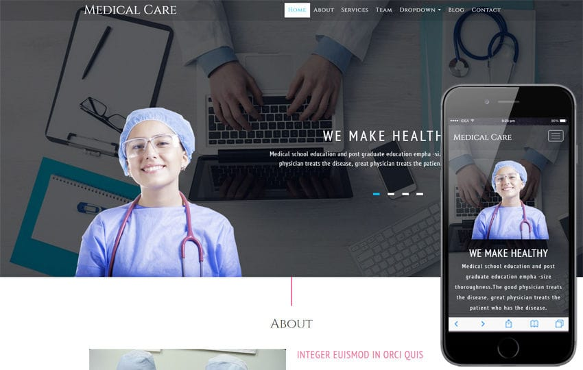 Medical Care a Medical Category Bootstrap Responsive Web Template