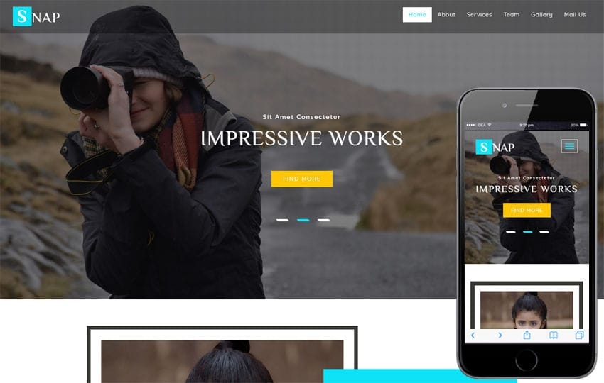 Snap a Photo Gallery Category Bootstrap Responsive Web Template