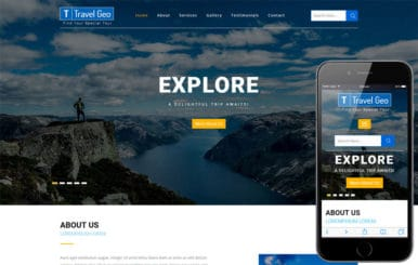 Travel Geo a Travel Category Bootstrap Responsive Web Template
