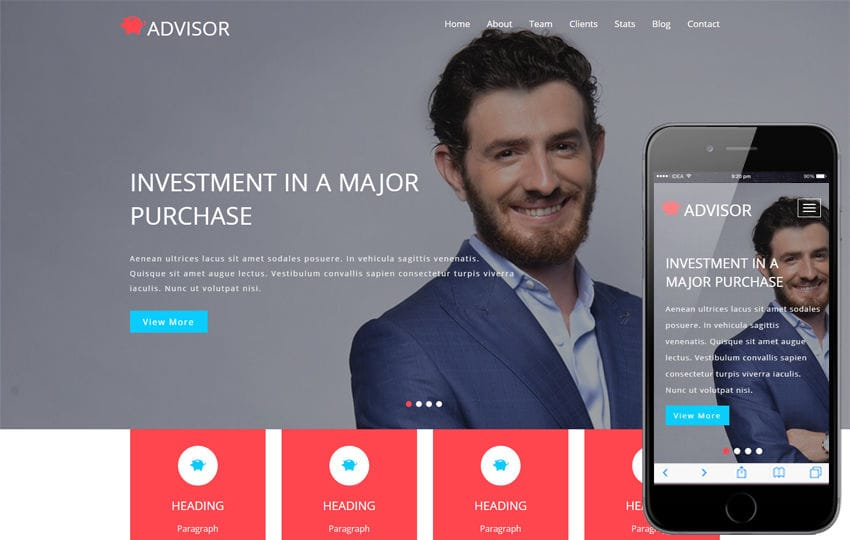 Advisor a Banking Category Bootstrap Responsive Web Template