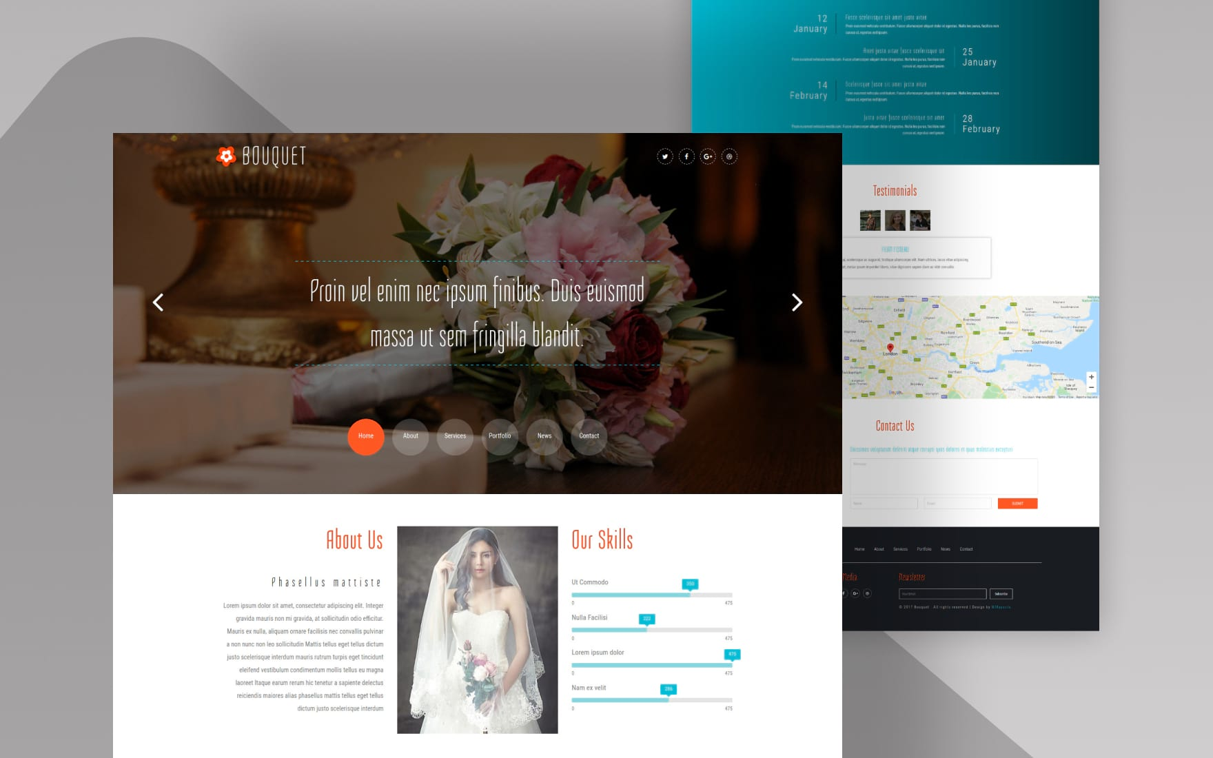 Bouquet a Wedding Category Bootstrap Responsive Web Template