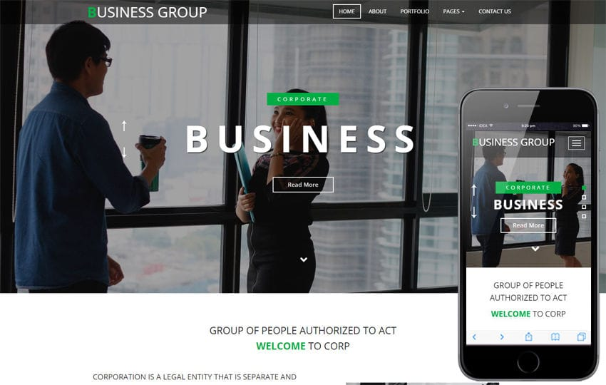 Business Group a Corporate Category Bootstrap Responsive Web Template