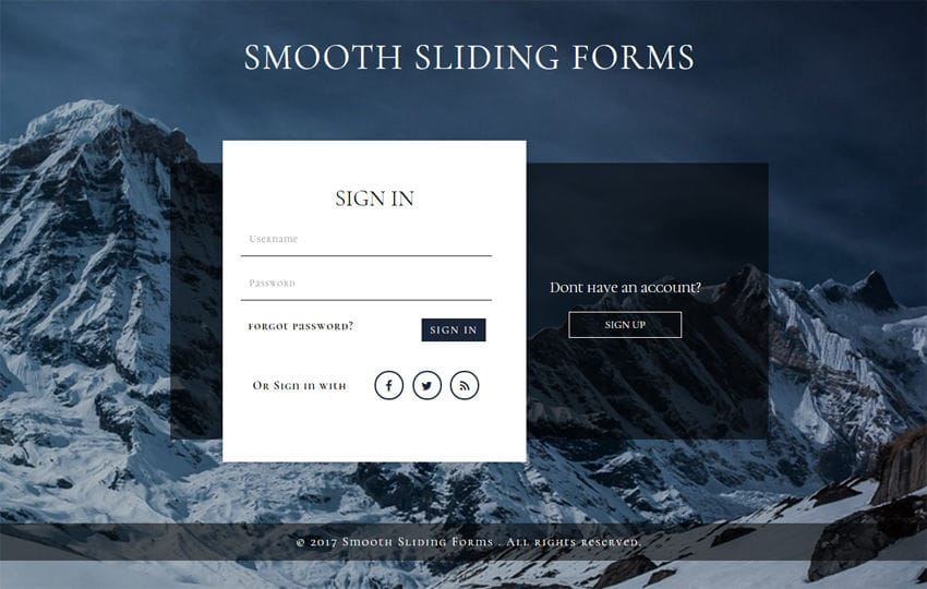 Smooth Sliding Forms a Flat Responsive Widget Template