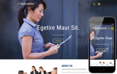 Speculator a Business Category Bootstrap Responsive Web Template