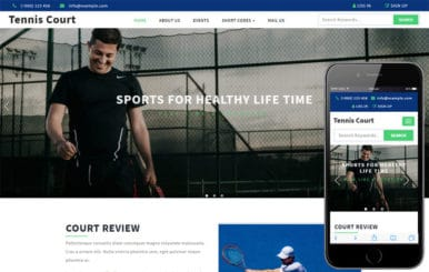 Tennis Court a Sports Category Flat Bootstrap Responsive Web Template