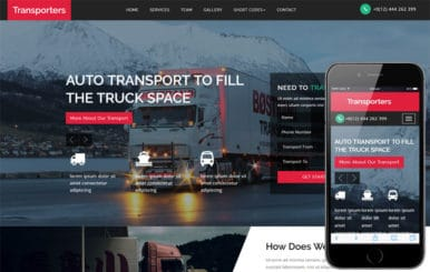 Transporters a Transportation Category Bootstrap Responsive Web Template