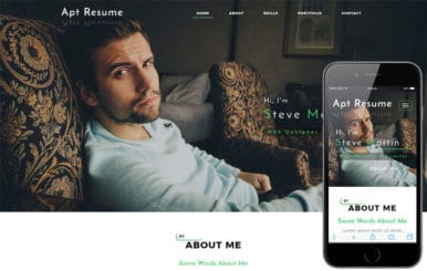 Apt Resume a Personal Category Bootstrap Responsive Web Template