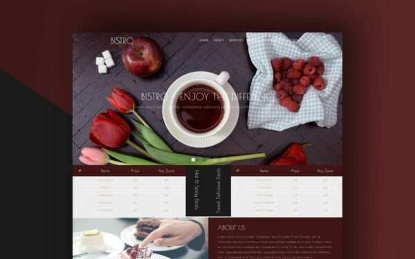 bristo website template